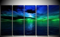 canvas picture frames - 100 Hand painted pictures decor home decor Abstract landscape modern wall art Oil Painting on canvas set mixorde wall frames H042