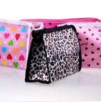 Wholesale 500PCS Multicolor Make Up Bag Women Lady Girl Waterproof Cosmetic Storage Bags CM Leopard Print Lovely Pattern