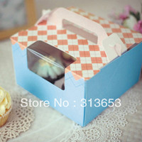 Wholesale 4 hole cupcake box muffin cake box cake container cake packing16 cmx16 cmx10cm