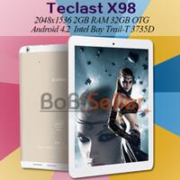 Wholesale Original Teclast X98 G Intel tablet pc quad core D bit inch Retina IPS x1056px GB Ram GB MP WCDMA GPS
