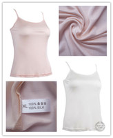 Wholesale Amoy gold for export silk double knit silk camisole vest bottoming shirt silk Specials