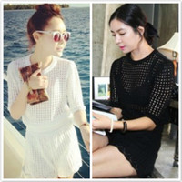 Cheap 2014 Korean version of the summer stylenanda hollow fashion sexy mesh knit shorts leisure suit jacket