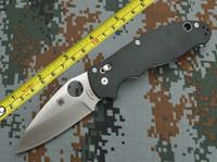 Wholesale Spyderco C101GP2 Manix3 Folding Knife Satin VG Plain Blade G10 Handle tactical knife survival knife knives