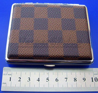 Cheap Chessboard Style Cigarette Box Case Hold For 18 Cigarettes