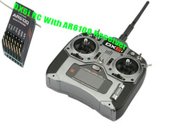 Wholesale DX6i RC Full Range GHz DSM2 Channel Remote Control Radio with AR6100 Receiver Mode1 or Mode2