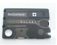 Cheap Swizerland 12 IN 1 Credit Card Tool Knife Blade Business Card Knife Card(OEM) 10 pcs lot