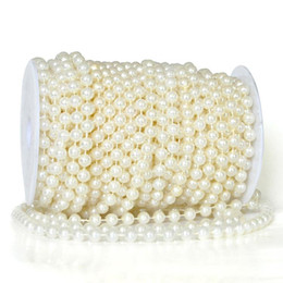 Wholesale 10M mm beads DIY pearl disk beaded Iridescent garland strands wedding party table decoration Chandelier Craft wa085