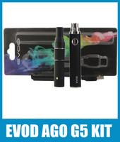 Cheap EVOD AGO G5 Vaporizer Atomizer Blister Kit 650 900mah Non-Adjustable EVOD Battery Huge Vapor EGO G5 Atomzier Tank Starter Kit Colorful KZ019