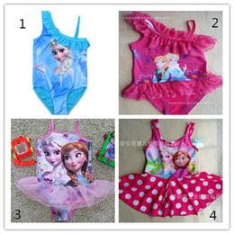 Wholesale Frozen Swim Children Girls Frozen Swimsuit Bikini Wear One Piece Swim wear Bodysuit Frozen clothing Swimsuit