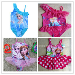 Wholesale Fashion Hot Frozen Swim Children Girls Frozen Swimsuit Bikini Wear One Piece Swim wear Bodysuit Frozen clothing Swimsuit