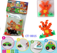 Wholesale DIY PERLER BEADS for learning education children toys puzzle beads magnetic beads pressure fight beads hama beads Hot Sale