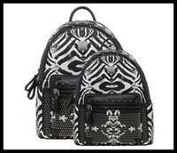 Wholesale MCM Large Backpack Fashion bags Zebra Rivet Men s Backpack Girls Mini School Bags Purses Couples Leisure Package Boy s Travel bag