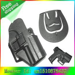 Wholesale OP Tactical Hard Plastic Close Quarters Gun Pistol Holster Scabbard with Belt Loop and Paddle Platform for USP Type Black brown
