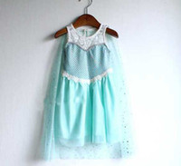 Wholesale OP Free DHL FEDEX Shipping Frozen Dress Elsa Dress New Girls Prince Dresses For Summer Party Baby Kids Clothes