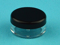 Wholesale Black and White Cream Container Cosmetic Empty Jar Pot for dry herb for wax E Cigarette empty bottle DHL Free