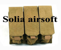 ammo bags - OP THREE pouch molle triple mag magazine round ammo bag molle closure Sand