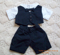 Wholesale teddy bear clothes fashion teddy bear bridegroom outfit to fit quot bear the quality and material like quot build a bear quot in USA