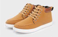 Cheap Men boots with velvet warm winter cotton shoes men sneakers han edition high tide to help british leisure men's shoes