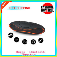 Wholesale Mini Rugby bluetooth Speaker Rugby Football Design Style Portable Wireless Bluetooth Loudspeaker with usb TF Digital music stereo speaker