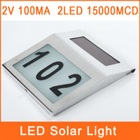 Wholesale LED Solar Light LED MCD Waterproof House Road Number Outdoor Lighting Solar TYND10003