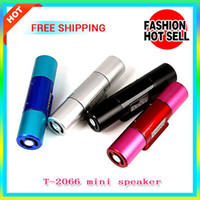Wholesale Aluminum Alloy Fashion Speaker T LED Display Screen Mini Speaker With Card Reader Function Support USB TF Card FM Radio Assorted Colors