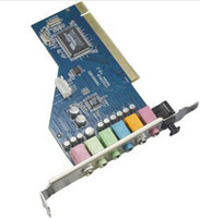 Wholesale New Full Duplex SRS D Audio Mic Stereo PCI Sound Card Game Midi Port Drop Shipping