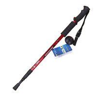 Cheap Wholesale-op-Hot Salling Walking Cane Trekking Pole Telescope Hiking Stick Mountaineering Climb Ultralight Nordic Walking Stick With Compass