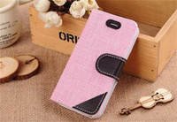 Cheap New Arrival 50 pcs best price braided pastoral colorful Phone Case Wallet Case Cover With Credit Card Slots For iphone 6