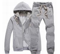 2014 brand new mens tracksuits long sleeve zipper hoodies + ...