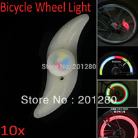 Wholesale 5pcs Colorful Bicycle Wheel Light Spoke Bycicle Tyre Wire Tyre LED Light Bike Cycling Lamps
