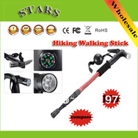 Cheap Wholesale-op-2014 New antishock telescoping walking canes walking sticks with Compass+Led Light for outdoor & Sports,Wholesale Dropshipping