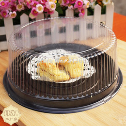 Wholesale big round cake box inches cheese box clear plastic cake container big cake holder