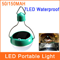 Wholesale Outdoor Solar Light Waterproof LED W Portable Solar Powered Camping Tent Courtyard Lanterns Lamps TYND10006