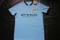 Wholesale 2014 thai quality manchester Soccer Jerseys Cheap Football Jerseys Sports Shirts Player Blue Jersey Allow Mix order