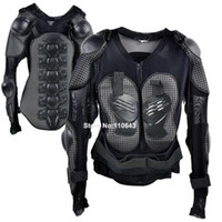 Wholesale New Black Super Quality Jacket Racing Motorcycle Full Body Armor Spine Chest Protective Jackets Gear Size XL B6 TK0544