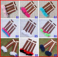 Wholesale spring autumn winter hot sell baby Rugger football lace ankle socks children s kneecap socks toddler kids ruffle football leg warmers melee
