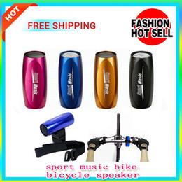Acheter en ligne Boîte de haut-parleur de radio-Fahional Sport Musique Portable Mini Sport Vélo Bike Sound Box FM Radio Micro SD / TF Lecteur MP3 Haut-parleur Musique 2014 vente chaude