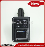 Cheap Bluetooth Car FM Transmitter Steering Wheel Kit Car bluetooth car handsfree MP3&MP4&MP5 music player support USB SD MMC card