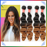 Wholesale Queen Weave Beauty Hair Products pieces Ombre Brazilian Hair Loose Wave Hair Extensions Two Tone b Cabelo Humano King Hair Wefts g