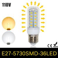 Wholesale 5Pcs Ultra Bright LED lamp W E27 LEDs AC V V Energy Efficient LED Corn Bulb SMD Chandelier lustres Pendant light