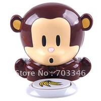 Cheap Wholesale-OP-Free Shipping Novel Battery Powered Electronic Cute Monkey Style Nail Polish Dryer,Yofantoy beauty tool