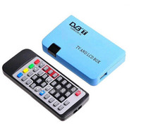 Cheap 2013 Digital TV Box LCD VGA AV Tuner DVB-T Free View Receiver Free shipping