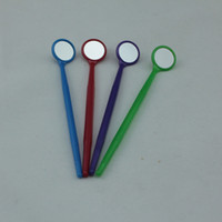 Wholesale 100pc Disposable Dental Mouth Mirror Mouth Reflector CRAFTS ELECTRONICS Oral Dental Care Glass Lense