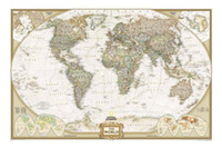 Cheap 2013 Vintage Style Archaize Exquisite Canvas World Map Word that on the map is English 130*90cm