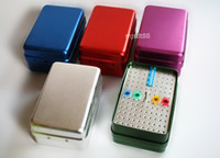Cheap 120 Holes Bur holder Disinfection Box For Burs Endo Files Gutta Percha Points 3-way with Ruler Red blue Purple silver green