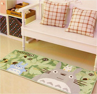 Wholesale 50x120cm Super Soft Coral Fleece Cartoon Totoro Floor Carpet Rug Area Anti slip Bedroom Living Room Mat