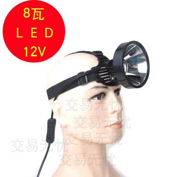 led flashlight8w led headlamp battery connected fishing fishing, Reel Combo