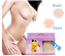 Wholesale Fashion Sexy Silicone Nipple Cover Bra Pad Cleavage Shaper Body Adhesive Reusable breast Nipple Patch Flower round invisible bra pads
