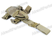 Wholesale OP Airsoft Tactical D Pistol Drop Leg Holster Pouch for Left Hand A TACS pistol Holster