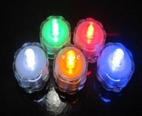 Wholesale Flower Diving led Lights Waterproof Candle Light Gorgeous Color